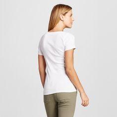 Women's Fitted Scoop T-Shirt Fresh White Xxl - Merona
