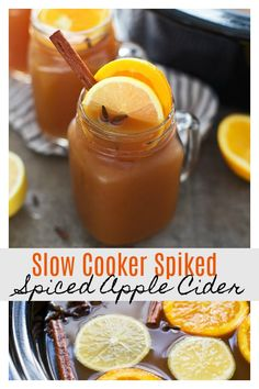 Spiked Crockpot Apple Cider - Cooking for Keeps Slow Cooker Spiked Spiced Apple Cider: Throw apple cider, some spices and citrus into the slow cooker, let it steep and then top off with your favorite bourbon! Apple Cider Alcohol, Bourbon Apple Cider, Apple Cider Drink, Spiked Apple Cider, Hard Apple Cider, Spiced Cider, Hot Apple Cider Cocktail, Cider Cocktails, Crockpot Apple Cider