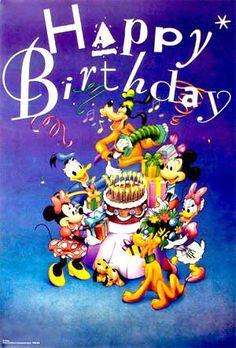 Mickey Mouse Happy Birthday 1 Poster Disney QuotesDisney