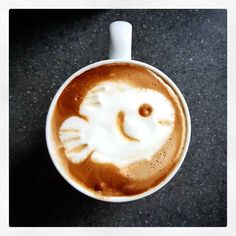 Something fishy about this coffee! #fishy #latteart