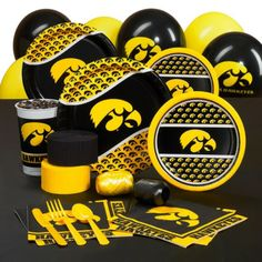 Iowa Hawkeyes College Party Pack for 8 Guests
