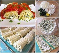 Recette Facile de Rouleaux de lasagne aux épinards