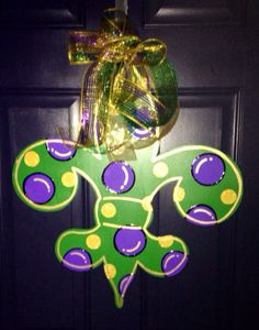 Hey, I found this really awesome Etsy listing at https://www.etsy.com/listing/178565257/mardi-gras-fleur-de-lis-wooden-door