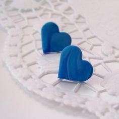Žíhaná srdce - náušnice