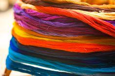Treads at TRAMA Textiles school    Colourfull guatemala <3