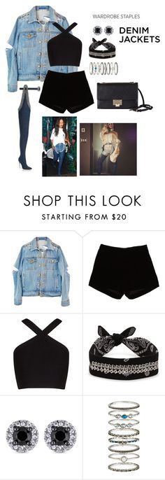 """""""Untitled #136"""" by laurel-chelsea ❤ liked on Polyvore featuring Andrew Gn, BCBGMAXAZRIA, Fallon, Accessorize, Jimmy Choo, denimjackets and WardrobeStaples"""
