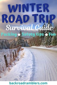 Embarking on a winter road trip? This survival guide will help you with planning, packing, safety tips, and ideas for making your winter road trip more fun. winter road trip essentials | winter road trip packing list | winter driving tips Road Trip Packing List, Road Trip Essentials, Road Trip Hacks, Road Trip Usa, Road Trip With Kids, Family Road Trips, Family Travel, Winter Road, Winter Travel