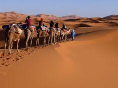 Sahara Desert in Erg Chebbi, Morocco.