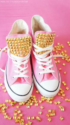 DIY studded sneakers - take your high tops to a new level!