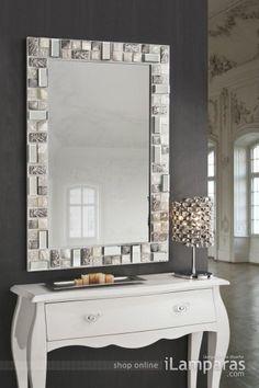maju ho...Mosaic mirror 120X80 white/Silver Schuller