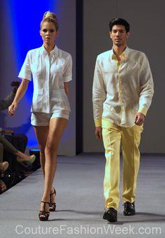 Arcadio Diaz Couture Fashion Week New York Spring 2013 #FashionWeek #Fashion #Couture #AndresAquino #Style #Designer #Model #Men #Women #Yellow