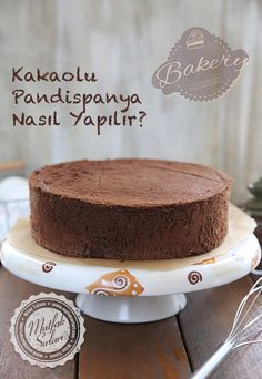 How to make cocoa sponge cake? Cocoa Recipes, Sweet Recipes, Delicious Chocolate, Chocolate Desserts, Fondant Cakes, Cupcake Cakes, Mousse Au Chocolat Torte, Turkish Sweets, Kitchens