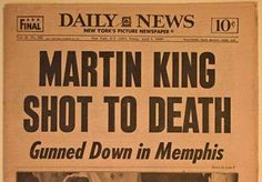 martin luther king jr dies newspaper - Google Search