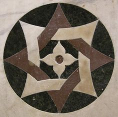 I want tile in this design, from San Pancrazio in Florence, similar to a star of Lakshmi