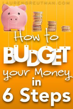 How to start a budget - Having trouble budgeting your money? Here's 6 fool proof steps to budget your money and SUCCEED! via /iatllauren/ Budgeting Worksheets, Budgeting Finances, Budgeting Tips, Making A Budget, Create A Budget, Making Ideas, Living On A Budget, Family Budget, Frugal Living