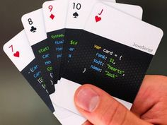 The beautifully designed code:deck playing cards from Varianto:25 prominently feature code in 13 different programming languages.