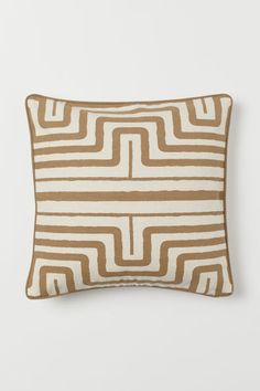 Patterned cushion cover - Dark beige/Patterned - Home All Cushion Cover Pattern, Beige Cushions, Velvet Cushions, Scatter Cushions, Decorative Cushions, Seat Cushions, Pillow Covers, Throw Pillows, Dekoration