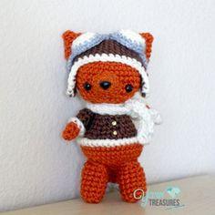 Free Crochet Pattern Aviator Fox, adore!!!! thanks so xox
