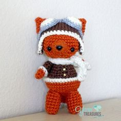 Free Crochet Pattern Aviator Fox