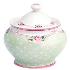 GreenGate Stoneware Sugarpot Amelie White H 10 cm | NEW! GreenGate Spring/Summer 2014 | Originated-Shop