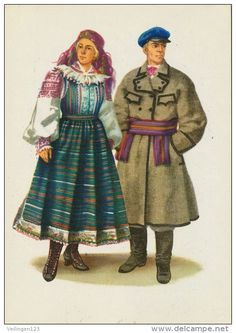 Hat Patterns To Sew, Costume Patterns, Folklore, Folk Costume, Costumes, Polish Folk Art, Long Overcoat, Bead Sewing, White Embroidery