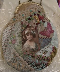 I ❤ crazy quilting, beading & ribbon embroidery . . . Crazy quilt reticule ~By Pat Winter