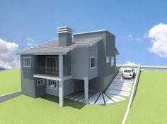 Resultado de imagem para fachadas de casas em declive lateral