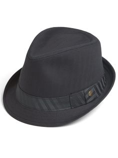 Accessories - Free Authority Black Banded Fedora - Men's Wearhouse