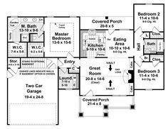 images about House plans on Pinterest   House plans  Floor    Better Homes  amp  Garden House Plans    Wilson Creek House Plan    Floor Plan
