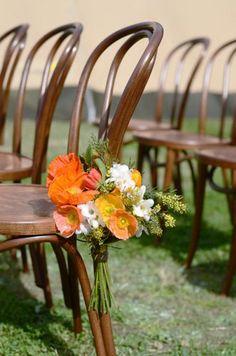 floral chair bouquet