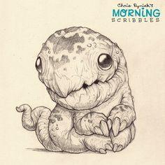 Dino-terrapin pup. #morningscribbles | 출처: CHRIS RYNIAK