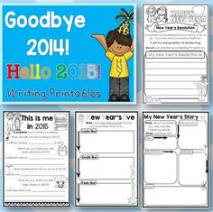 End of the year printables ready to go for December and January writing.