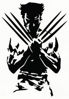 Wolverine Silhouette Vinyl Decal/Bumper Sticker Marvel Comics X-Men Wolverine Tattoo, Wolverine Art, Logan Wolverine, Wolverine Images, Marvel Art, Marvel Dc Comics, Marvel Heroes, Marvel Xmen, Stencil Art