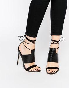ASOS HENDRICKS Lace Up Heeled Sandals