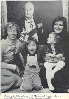 Robin Gibb with wife Molly and their son Spencer (age 3) and their daughter Melissa (age 1) in 1976
