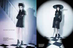 Lydia Deetz themed editorial by Matthew Shave