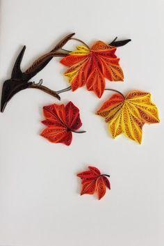Image result for quilling autumn leaf
