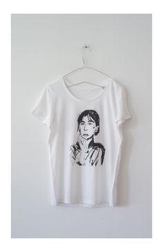 Otro dibujo de la Colección de camisetas Otoño- Invierno con inspiración en las mujeres y  la música  Rock