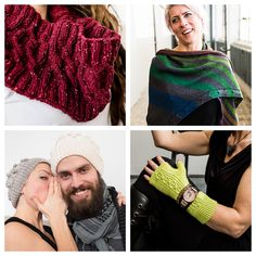 January patterns from the #knitgrrl52 Patreon. Get a pattern a week through 2017 and support indie knitwear pattern research!