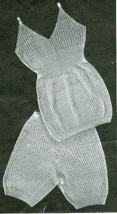 "Vintage ladies underwear knitting pattern 1940's. Knitted underwear pattern 'Slenderfit' is to fit 32"" bust and 36"" hip knitted in vintage 3ply"
