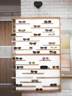 eyewear store in Minsk, Belarus eyewear store design Handmade fashion sunglasses la strada