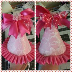 Little girl 1st birthday party hat