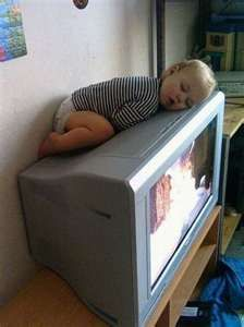 I can sleep anywhere, even on top of the TV.  See?