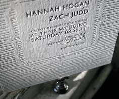 Letterpress Wedding Invitations | Threaded Design | Bella Figura Letterpress
