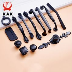 Cheap black cabinet handles, Buy Quality drawer knobs directly from China furniture handle Suppliers: KAK Zinc Aolly Black Cabinet Handles American style Kitchen Cupboard Door Pulls Drawer Knobs Fashion Furniture Handle Hardware