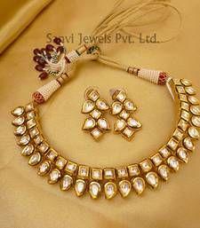Sanvi Jewels Pvt. Ltd. - Paisley Neckline Kundan Set