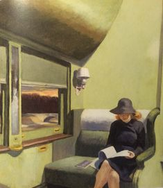 Edward Hopper -Compartment C, Car 293 American Scene Painting, New York City, Edward Hopper Paintings, Rockwell Kent, Carnegie Museum Of Art, Social Realism, New York School, San Pablo, Magic Realism