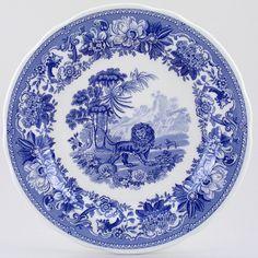 Spode Blue Room Dresser Plate Aesops Fables