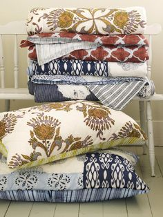 Layer Patterned Linens in 6 Tips for Selecting Luxurious Bedding from HGTV