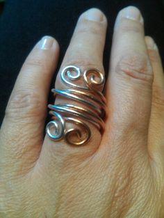 Anello bicolore rame e alluminio